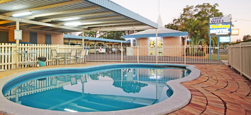 Relax by the pool with friends and enjoy our BBQ facilities.  Binalong Motel - Goondiwindi - QLD